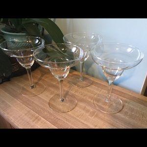 Other - Set of 4 glass Margarita Glasses - 12 oz.